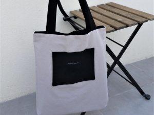 Tote-bag «Beige & Noir»