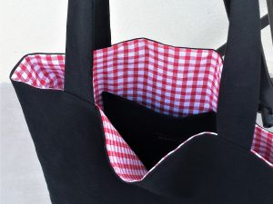 Tote-bag « Vichy Rouge & Noir »