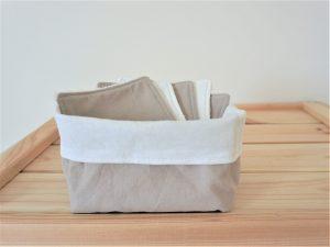 Lot de 7 cotons démaquillants lavables «BEIGE»