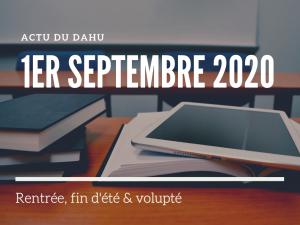 Actu du Dahu – 1er septembre 2020