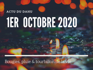 Actu du Dahu – 1er octobre 2020